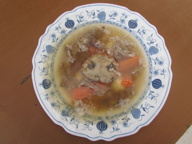 A traditional heavy gelatin cold dish in Hungary and Transylvania -made of pork legs, ears, tongue, skin and noses too!