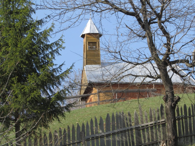 Village chapel in Gyimes overlooking the valley