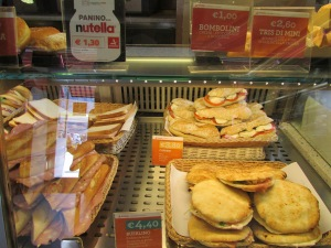 'Fast food' deli counter at rest stop/gas station in Northern Italy