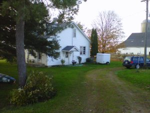 My farmhouse in the north part of Huron County, Ontario