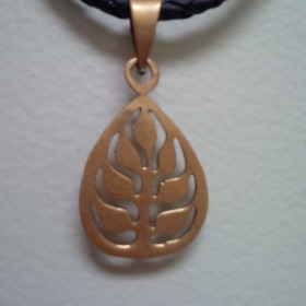 Tree of life bombshell necklace from Cambodia